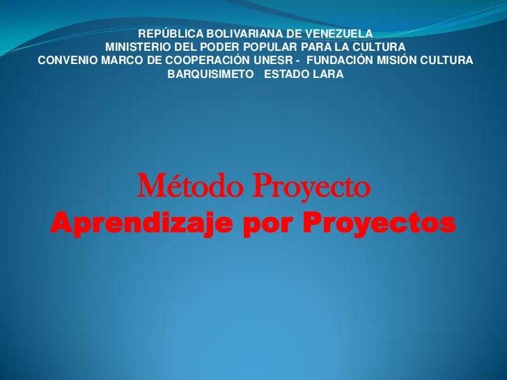 REPÚBLICA BOLIVARIANA DE VENEZUELA<br />MINISTERIO DEL PODER POPULAR PARA LA CULTURA<br />CONVENIO MARCO DE COOPERACIÓN UN...