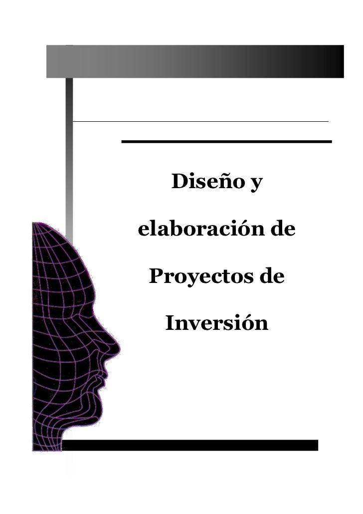 Diseño yelaboración deProyectos de  Inversión