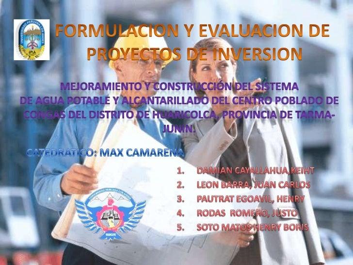 CENTRO POBLADO DE CONGAS – ANTACUCHODISTRITO DE HUARICOLCA, PROVINCIA DE TARMA                  –JUNÍN               POBLA...