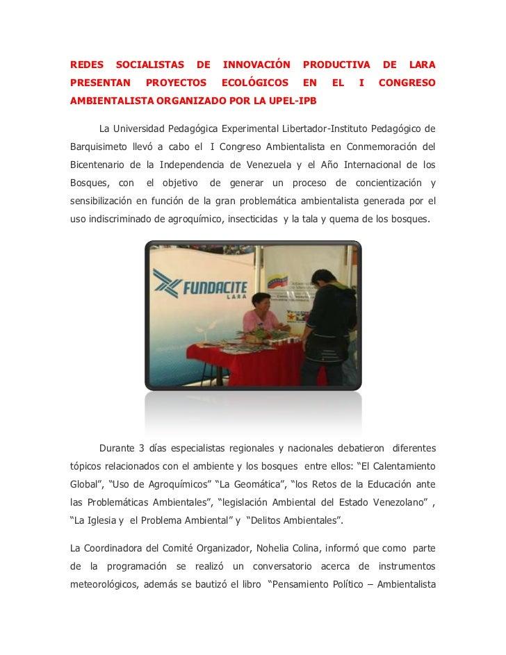 "HYPERLINK ""http://www.fundacite-lara.gob.ve/index.php/component/content/article/14/678-redes-socialistas-de-innovacion-pr..."