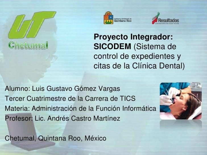 Proyecto Integrador:                            SICODEM (Sistema de                            control de expedientes y   ...