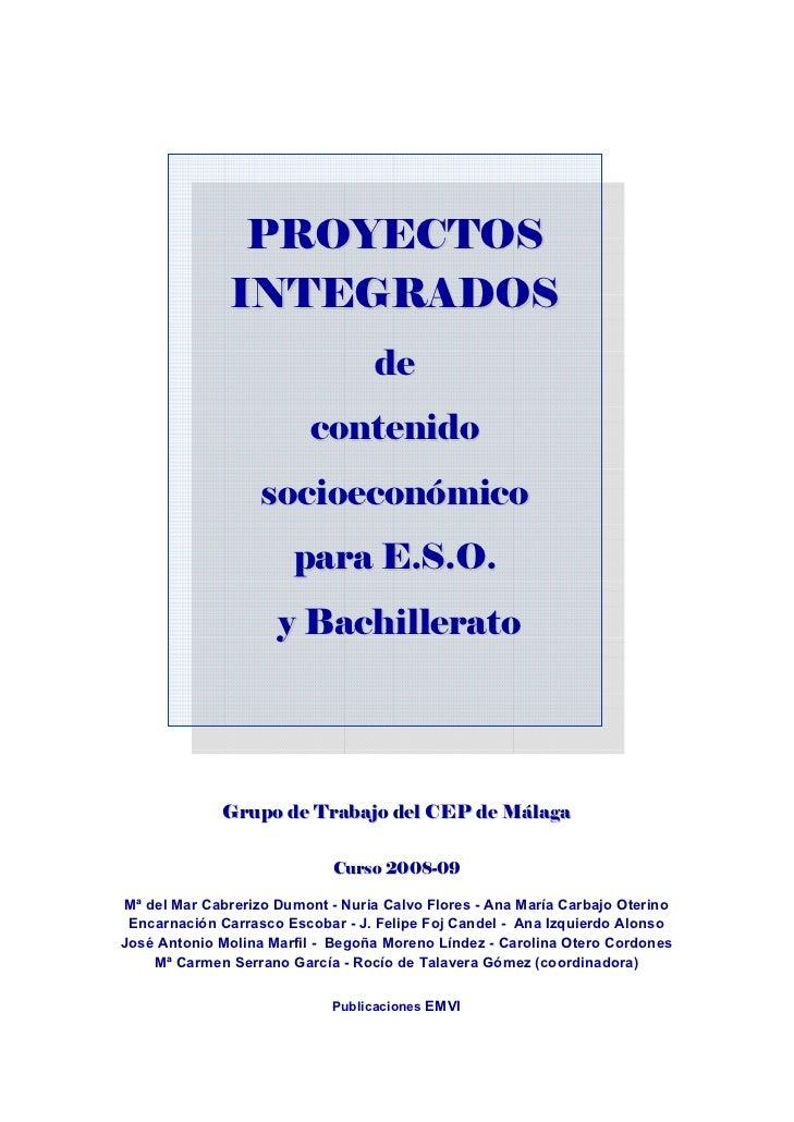 PROYECTOS                   INTEGRADOS                                       de                  ...