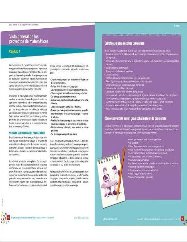 Proyectos matematicas primaria