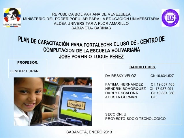 REPUBLICA BOLIVARIANA DE VENEZUELA     MINISTERIO DEL PODER POPULAR PARA LA EDUCACION UNIVERSITARIA                   ALDE...