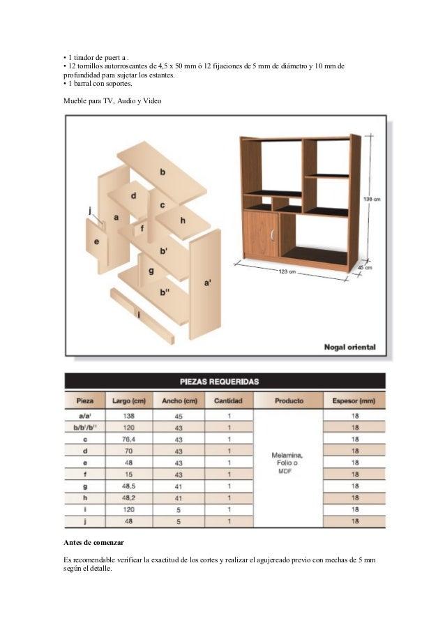 Proyectos para fabricar muebles con melamina - Tornillos para muebles ...