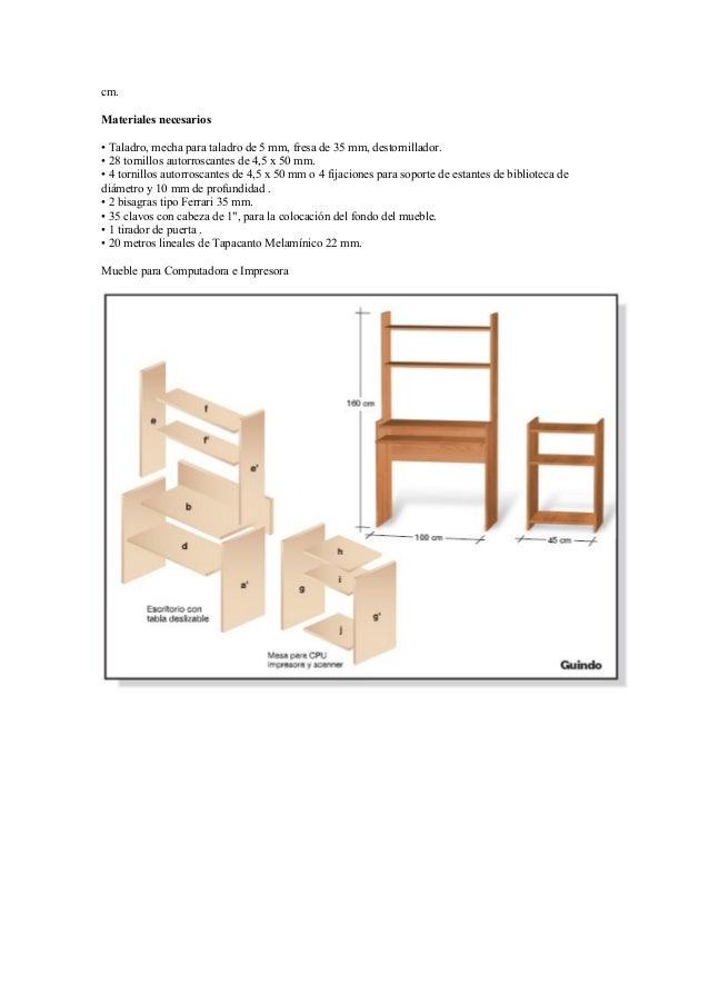 Proyectos para fabricar muebles con melamina - Materiales de muebles ...