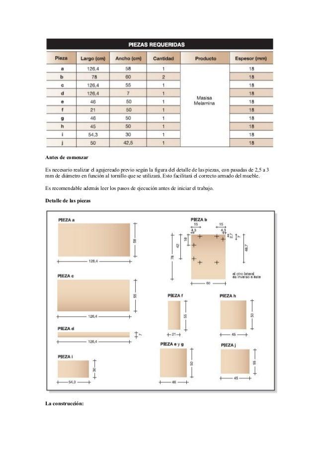Proyectos Para Fabricar Muebles Con Melamina