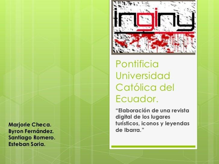 "Pontificia                   Universidad                   Católica del                   Ecuador.                   ""Elab..."