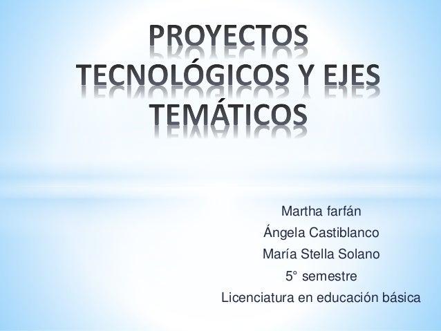 Martha farfán  Ángela Castiblanco  María Stella Solano  5° semestre  Licenciatura en educación básica