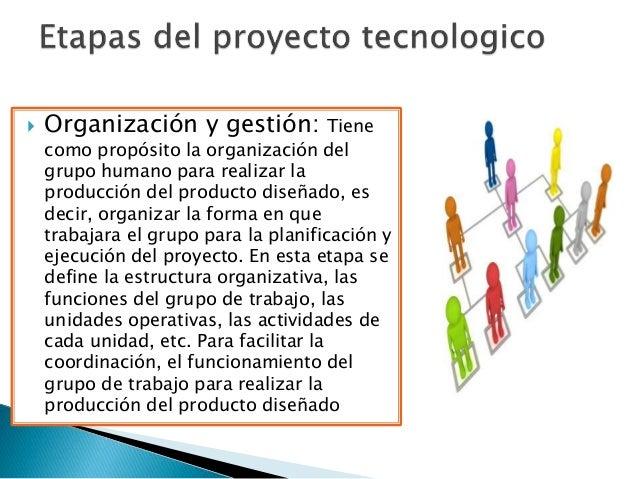  Organización y gestión: Tiene como propósito la organización del grupo humano para realizar la producción del producto d...