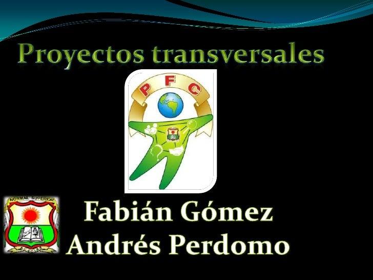 Proyectos transversales<br />Fabián Gómez<br /> Andrés Perdomo <br />