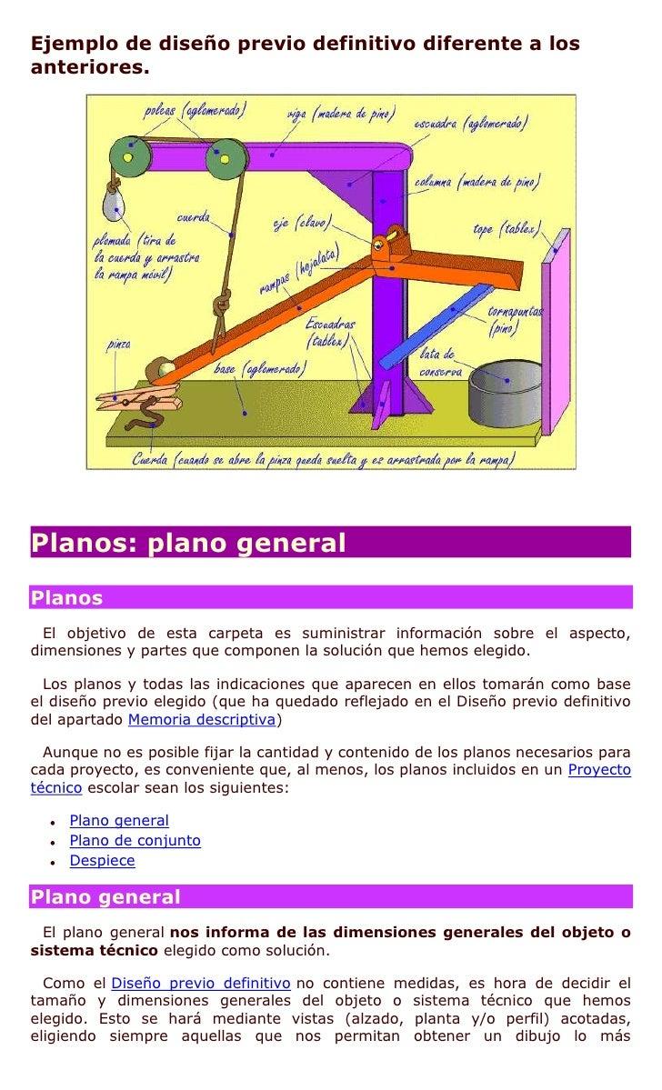 Proyecto t cnico escolar for Proyecto tecnico ejemplos