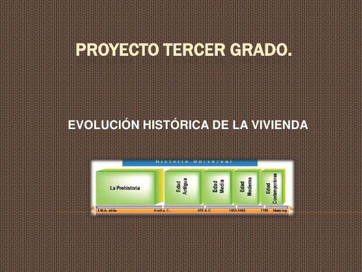 PROYECTO TERCER GRADO.EVOLUCIÓN HISTÓRICA DE LA VIVIENDA