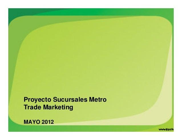 Proyecto Sucursales Metro Trade Marketing MAYO 2012