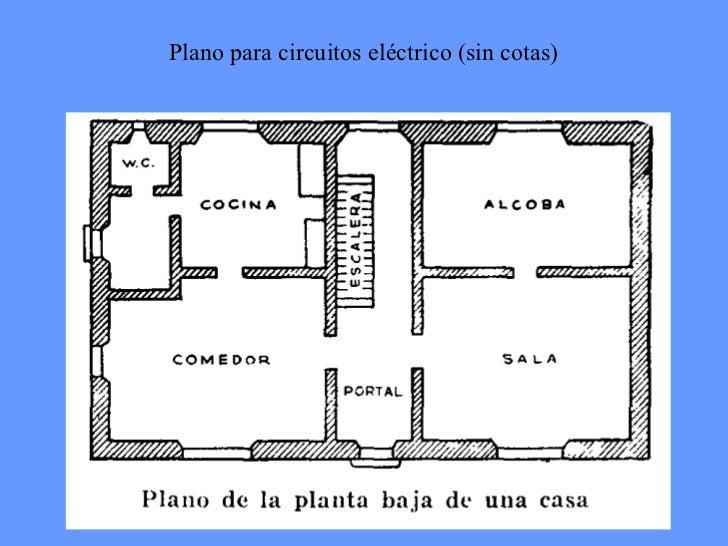 Instalacion electrica en las viviendas for Plano instalacion electrica