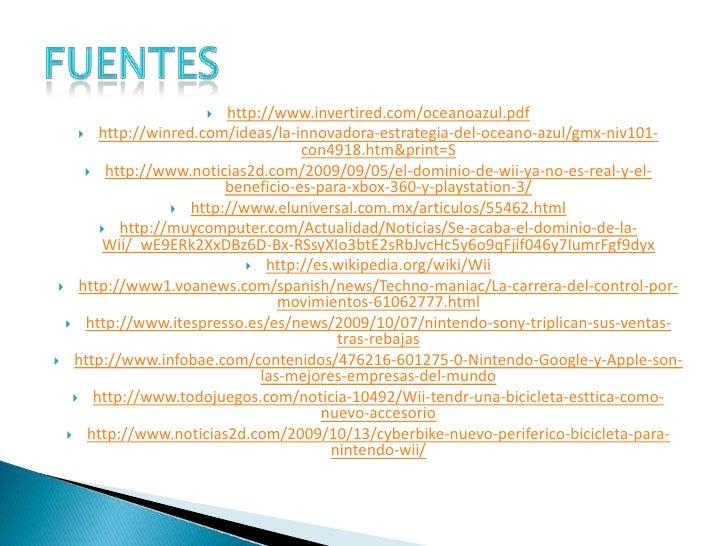 http://www.invertired.com/oceanoazul.pdf<br />http://winred.com/ideas/la-innovadora-estrategia-del-oceano-azul/gmx-niv101-...