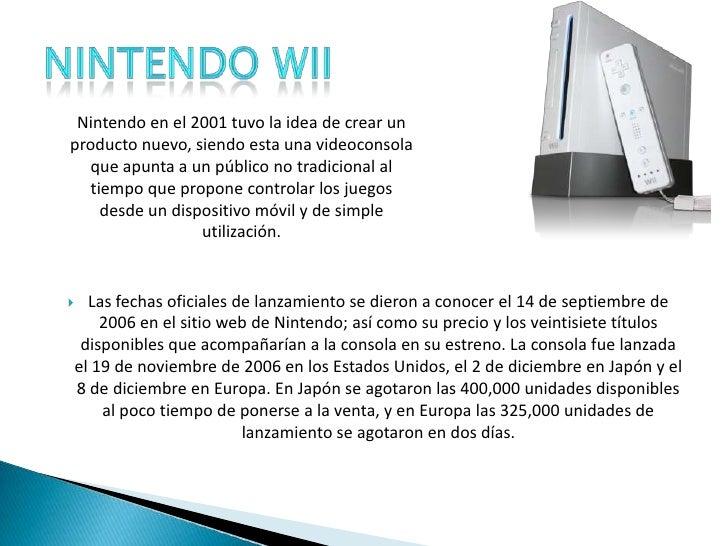 Las fechas oficiales de lanzamiento se dieron a conocer el 14 de septiembre de 2006 en el sitio web de Nintendo; así como ...