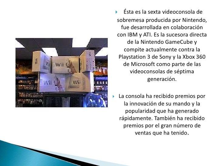Ésta es la sexta videoconsola de sobremesa producida por Nintendo, fue desarrollada en colaboración con IBM y ATI. Es la s...