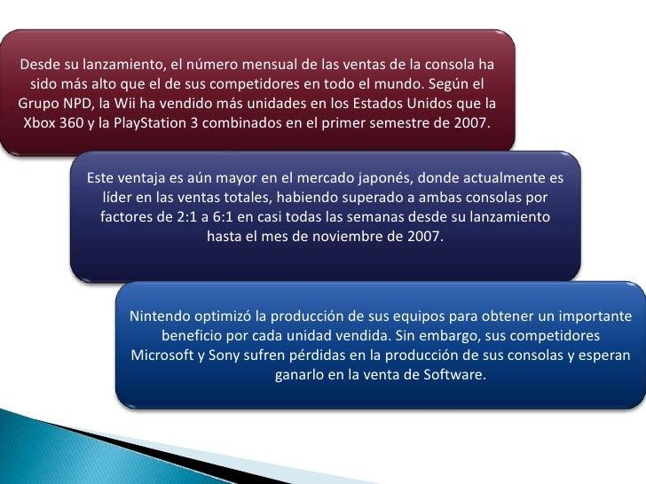 Desde su lanzamiento, el número mensual de las ventas de la consola ha sido más alto que el de sus competidores en todo el...