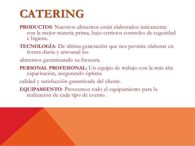 proyecto de inversi n catering
