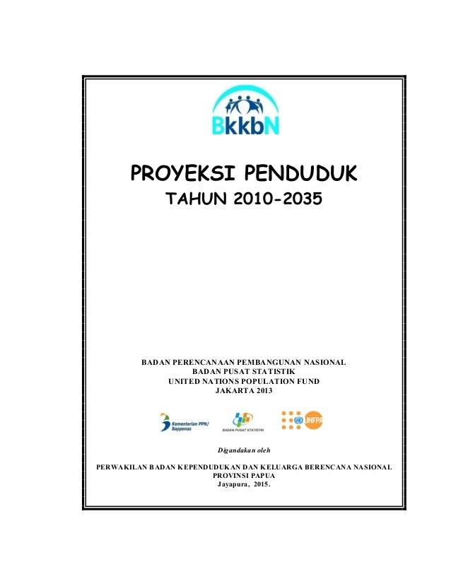 PROYEKSI PENDUDUK TAHUN 2010-2035 BADAN PERENCANAAN PEMBANGUNAN NASIONAL BADAN PUSAT STATISTIK UNITED NATIONS POPULATION F...