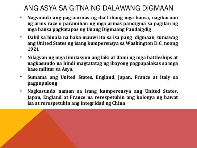 PATUNGO SA IKALAWANG DIGMAANG  PANDAIGDIG  • Nilusob ng Japan ang Manchuria noong Setyembre 1931 dahil sa pagiging  sagana...