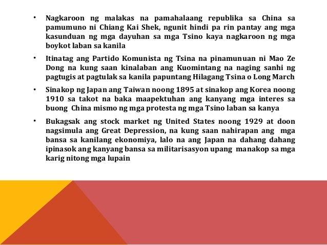 • Upang palakasin ang kanyang pwersa, nakipag-alyansa ang Japan sa  Germany at Italy, na siyang naghudyat sa pagpirma ng T...