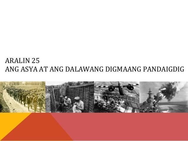 Asya at ang Ikalawang Digmaang Pandaigdig  Slide 2