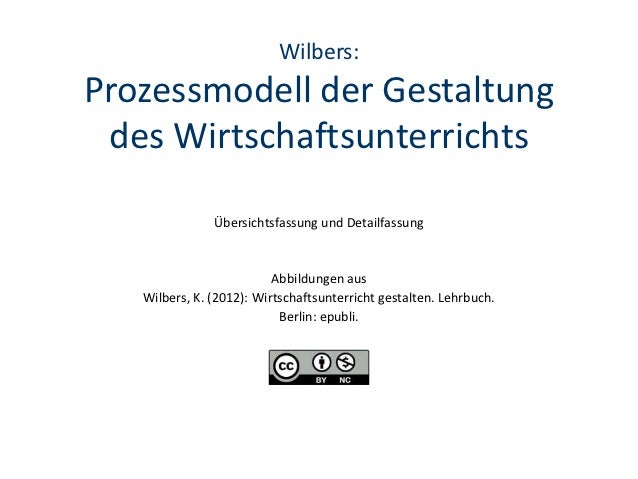 Wilbers:Prozessmodell der Gestaltung des Wirtschaftsunterrichts               Übersichtsfassung und Detailfassung         ...