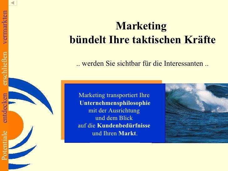Potentiale entdecken erschließen vermarkten                                                         Marketing             ...