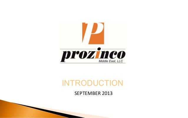 INTRODUCTION SEPTEMBER 2013