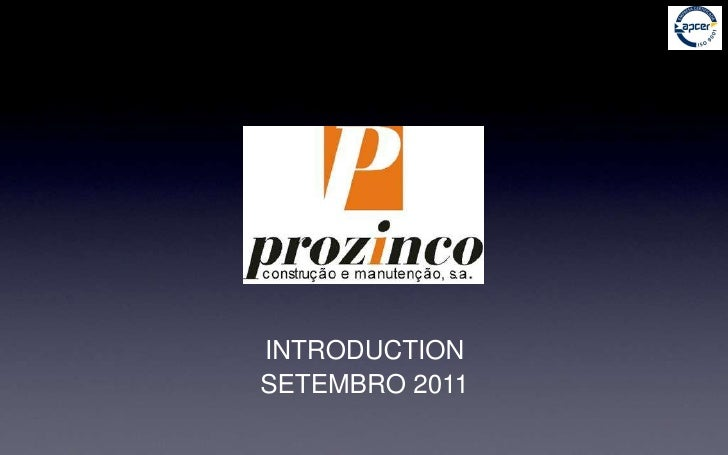 INTRODUCTION<br />SETEMBRO 2011<br />