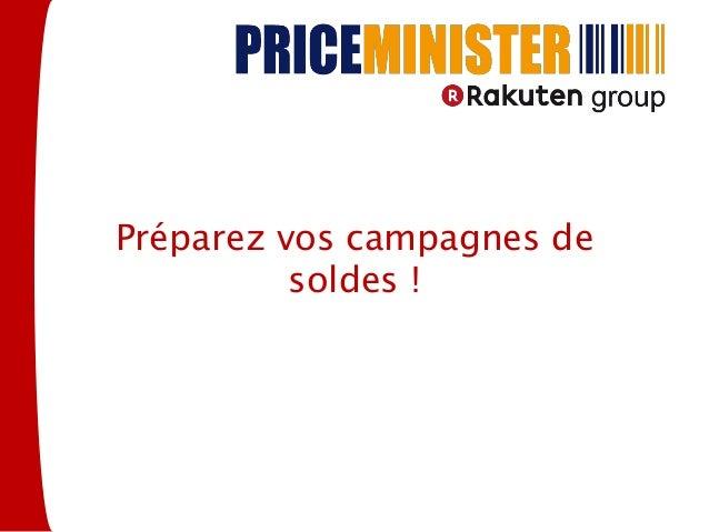 Préparez vos campagnes de          soldes !