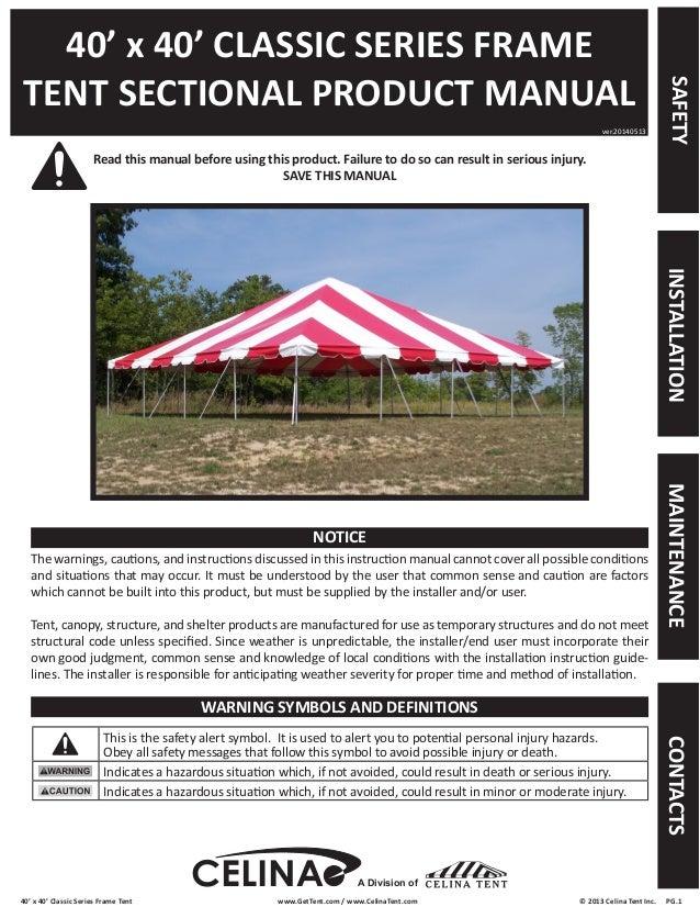 40 x 40 frame tent installation instructions. Black Bedroom Furniture Sets. Home Design Ideas