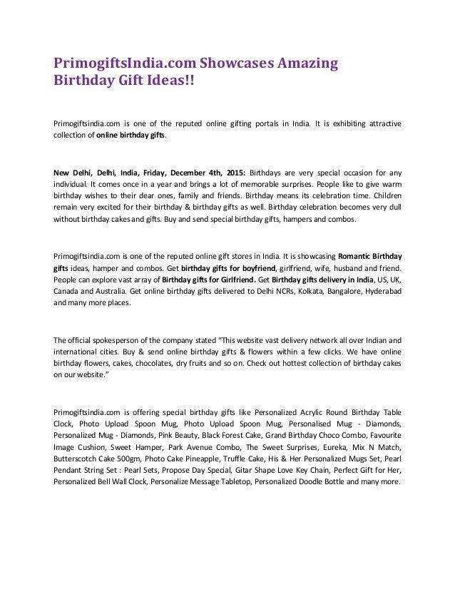 PrimogiftsIndia Showcases Amazing Birthday Gift Ideas Primogiftsindia Is One Of