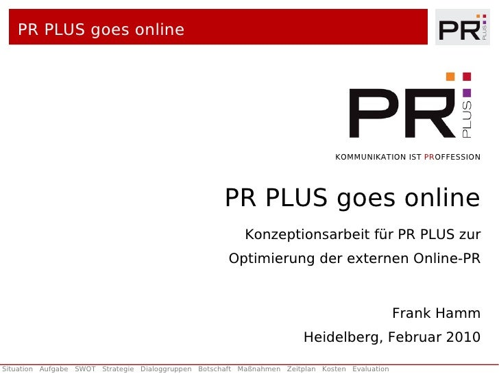 PR PLUS goes online                                                                                     KOMMUNIKATION IST ...