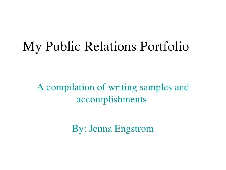Pr portfolio for Public relations agreement template