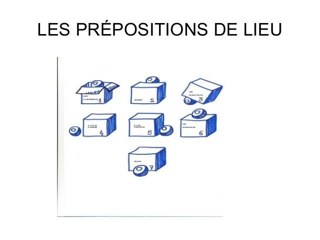 LES PRÉPOSITIONS DE LIEU