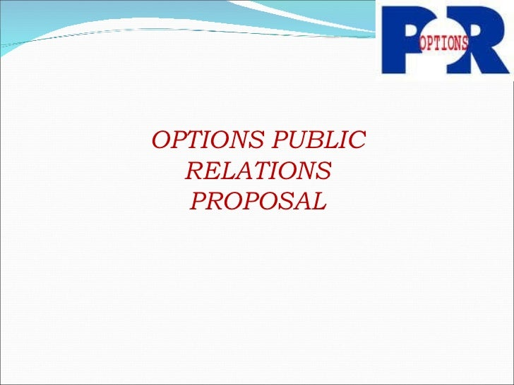 OPTIONS PUBLIC RELATIONS PROPOSAL
