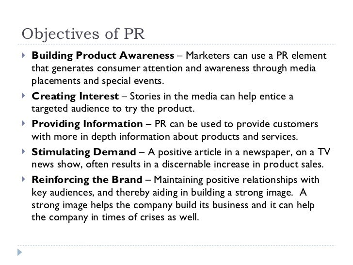 public relations and publicity