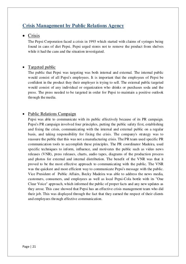 coke pesticide crisis Case analysis of coca cola india crisis - advertising essay example and progress of the think tank with regard to the pesticide levels 5 could coke india have avoided the crisis coke also had the belgium example to follow.