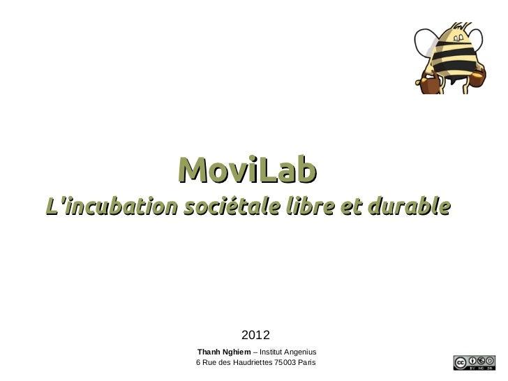 MoviLabLincubation sociétale libre et durable                          2012              Thanh Nghiem – Institut Angenius ...