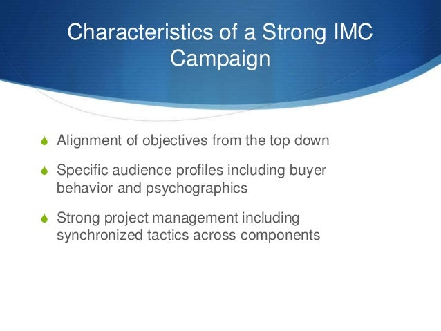 imc strategy To learn more about integrated marketing for smes please get in touch: in this video we offer a short introduction to the principle.