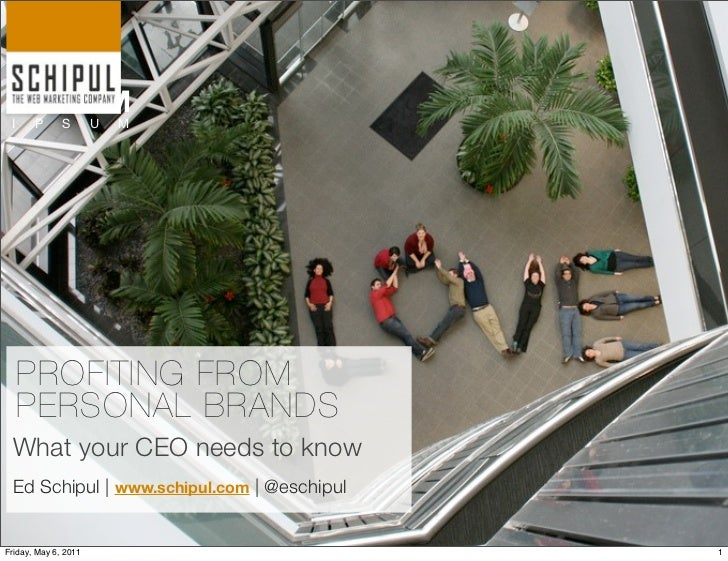 LO R EM I     P      S       U   M     PROFITING FROM     PERSONAL BRANDS What your CEO needs to know Ed Schipul | www.sch...