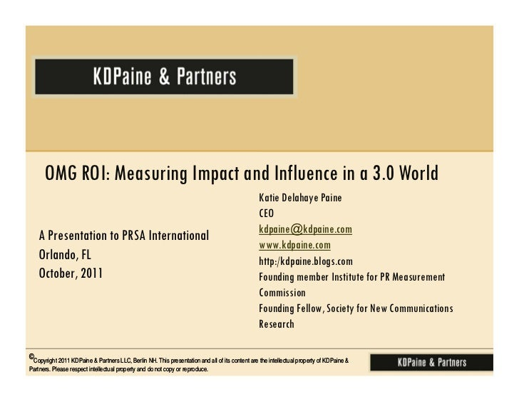 OMG ROI: Measuring Impact and Influence in a 3.0 World                                                                    ...