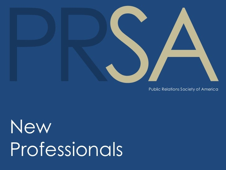 Public Relations Society of AmericaNewProfessionals