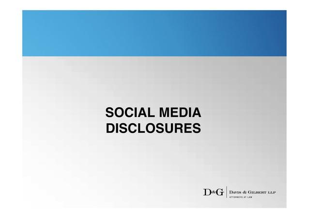 SOCIAL MEDIADISCLOSURES