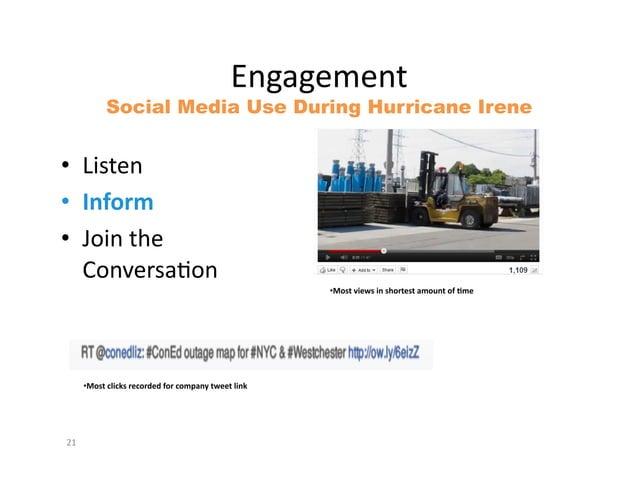 """9#L""""L.5.#(&            Social Media Use During Hurricane Irene&• K*0(.#&• (&)*+,• :4*#&().&   84#=.%0""""Q4#&             ..."""