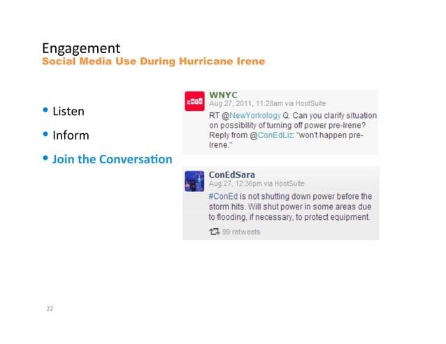 "9#L""L.5.#(&Social Media Use During Hurricane Irene&• K*0(.#&• Y#14%5&• :*""&$0%;*&.%+#13*&FF&"