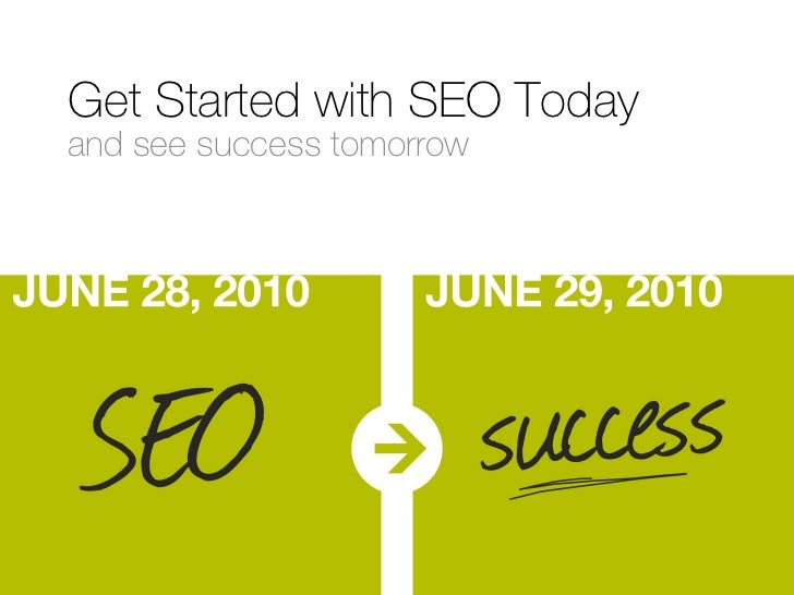 Get Started with SEO Today and see success tomorrow